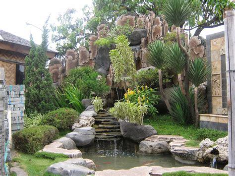 lanskap kolam air terjun rumah idaman