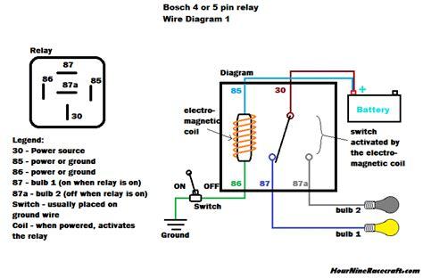 Hournine Racecraft Bosch Normal Relay Wiring