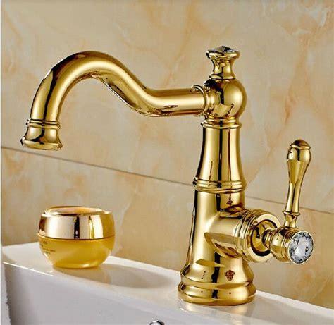 Bathroom Fixtures Discount by New Golden Brass Bathroom Basin Faucet Swivel Spout Sink