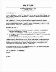 Examples Resume Cover Letters For Customer Service