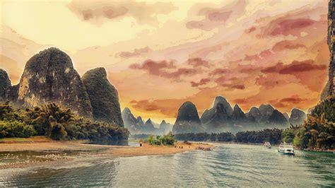 Li River  China Wallpaper  Wallpaper Studio 10  Tens Of