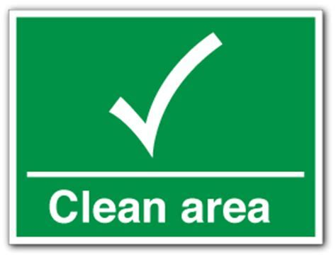 Clean Area   Direct Signs