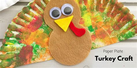 simple paper turkey craft paper plate turkey craft make learning 5430