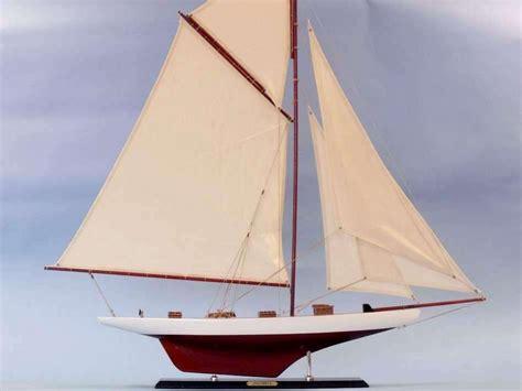 "Columbia 42"" Wood Sailboat Model  Large Model Sailing"
