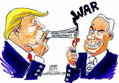Iran Trump Netanyahu Smoke Latuff Deal Nuclear