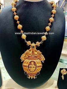 Diamond Designs Lakshmi Peacock Design Temple Haram Latest Indian