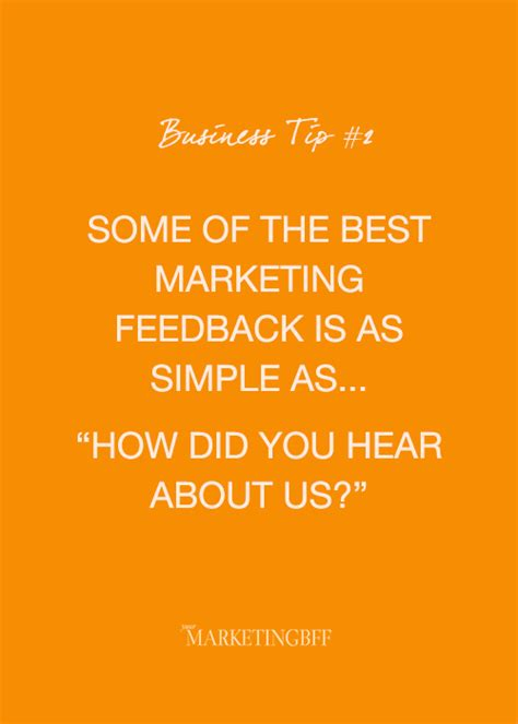 How Did You Hear by Business Tip Of The Day Yourmarketingbff