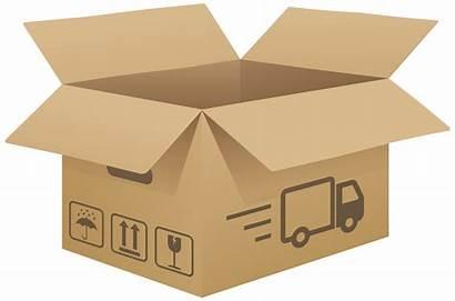 Cardboard Box Clipart Clip Open Carton Cliparts