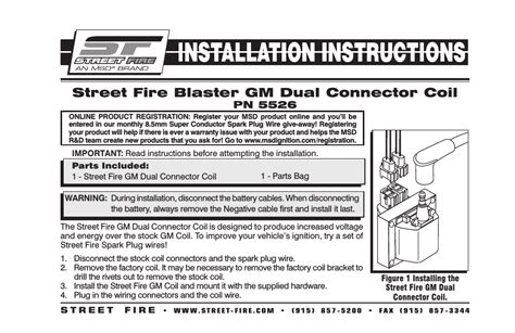 Msd Dual Connector Coil Street Fire Installation