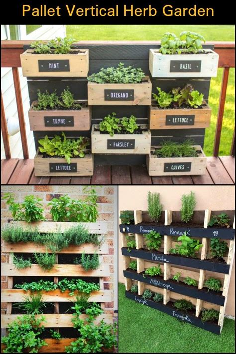 How To Make A Vertical Pallet Herb Garden by Best 25 Herb Garden Pallet Ideas On Vertical