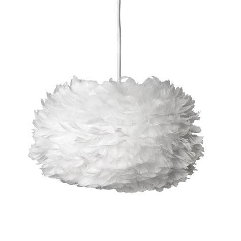 vita eos feather pendant shade white medium cm leo bella