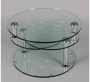 Table Basse En Verre Ronde : table basse ronde 3 plateaux de verre cristal 2028 ~ Teatrodelosmanantiales.com Idées de Décoration