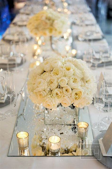 mirror centerpieces decorations using mirror elements in