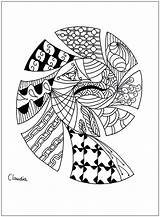 Coloring Zentangle Pages Simple Adult Adults Drawing Zentangles Claudia Hard Printable Dragons Children Justcolor Nggallery Thanks sketch template