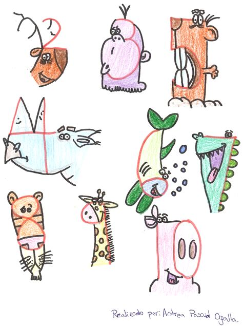 Dibujos de animales hechos con números Dibujos Animales