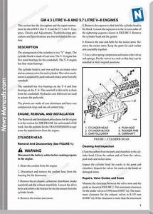 Gm 4 3 Litre V6 And 5 7 Litre V8 Engines Repair Manual