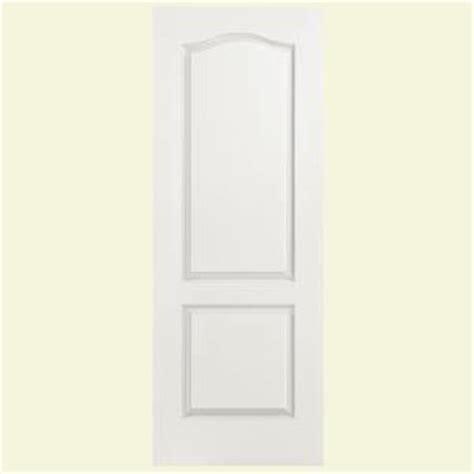 home depot 2 panel interior doors masonite 24 in x 80 in smooth 2 panel arch top hollow core primed composite interior door slab