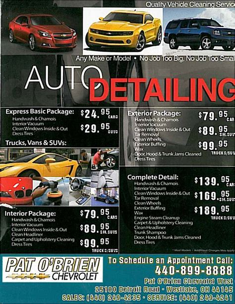 car wash service auto detailing service in cleveland area pat o 39 brien