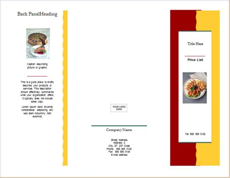 Product Brochure Template Word by Ms Word 2003 Brochure Templates Free