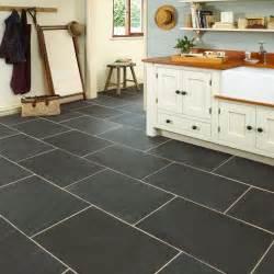 kitchen floor tiling ideas rustic black slate floor tiles marshalls
