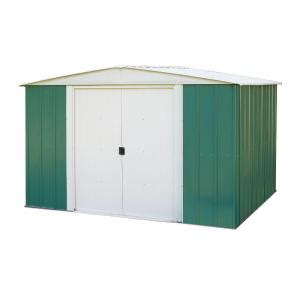 arrow green meadow 10 ft x 8 ft steel shed rmga108 the