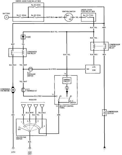 my 93 honda civic has no ac compressor clutch condensor fan and radiator fan do not turn i