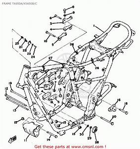 Yamaha Xs650 1975 Usa Frame Tx650a  Xs650b  C