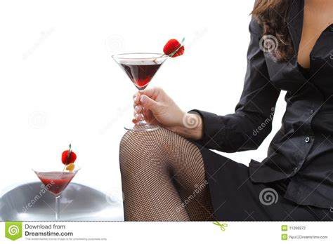woman holding cocktail stock photography image