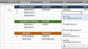 Templates Agenda Smartsheet