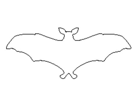 flying bat template free animal patterns for crafts stencils and more page 9