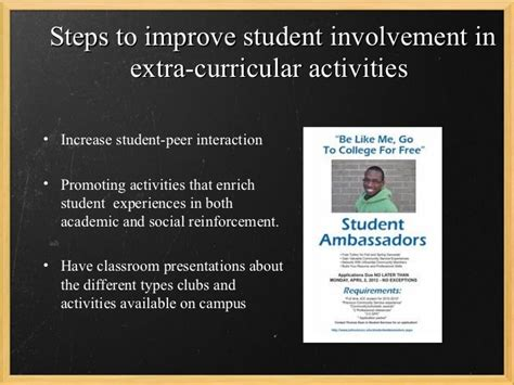 increasing student involvement in curricular activities