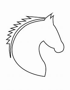 Horse Head Stencil   H & M Coloring Pages