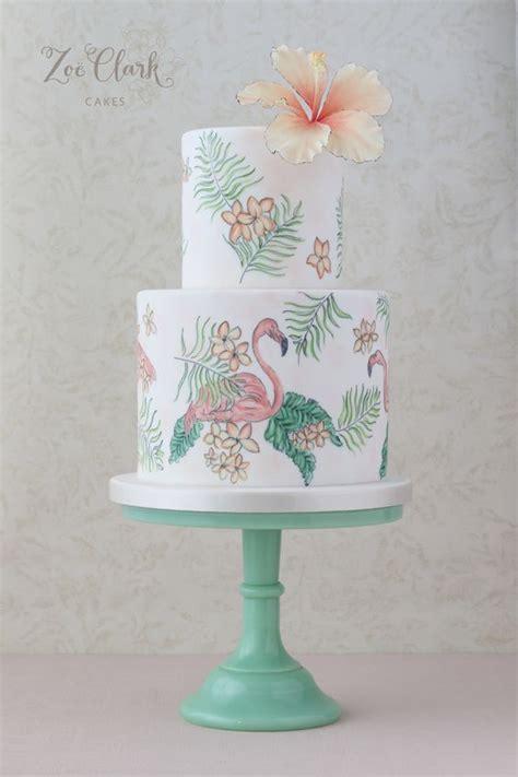 painted flamingo cake  havana shoot cakes pinterest