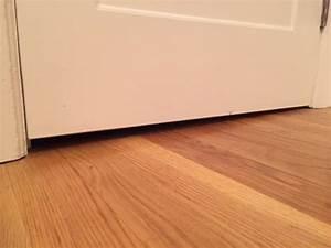 Door sweep uneven floor w variable gap between opened and for How to fix uneven floors