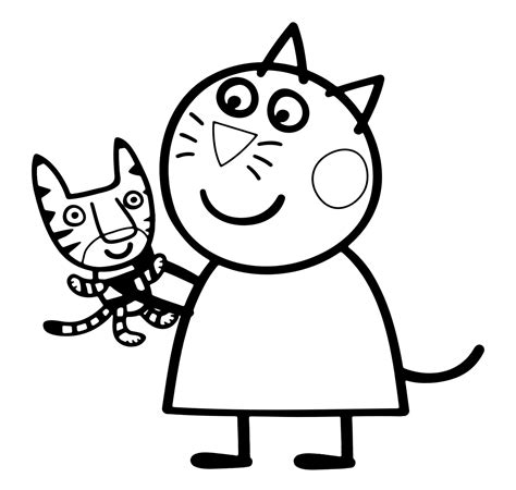 Peppa Pig Candy Cat Coloring Pages BubaKids com