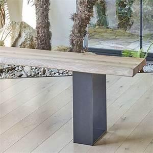 Banc Metal Bois : banc moderne en bois massif et m tal oregon 4 ~ Teatrodelosmanantiales.com Idées de Décoration