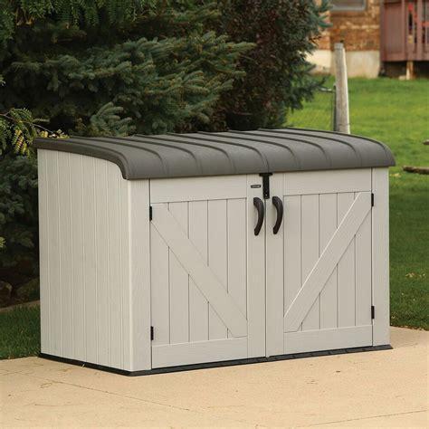 Storage For Backyard by Lifetime Horizontal Storage Box New New New Ebay
