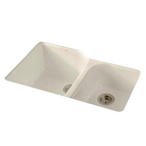 kohler bakersfield undermount cast iron 31 in 5 hole