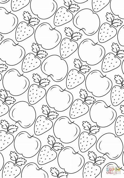 Fruit Coloring Pattern Pages Printable Fruits Ausmalbilder