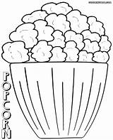 Popcorn Coloring Pages Letter Sheet Wonderful Preachool Week Colorings Box Davemelillo sketch template