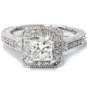 1 ct engagement rings 1000 1 55ct princess cut engagement ring halo vintage antique engraved deco filigree