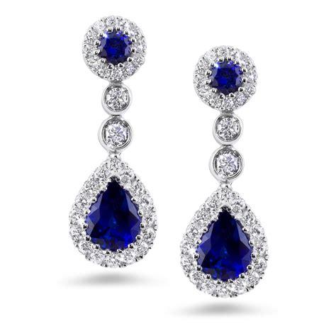 sapphire drop earrings lumi jewelry engagement rings