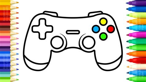 draw gamepad controller  coloring pages
