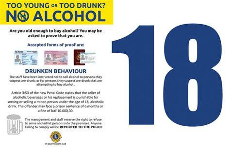 Drinking Age Limit Signage