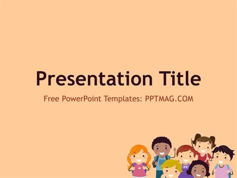 children powerpoint template pptmag