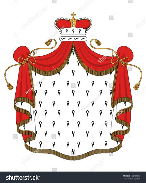 royal mantle with crown for heraldry design or idea of logo jpeg version also available in