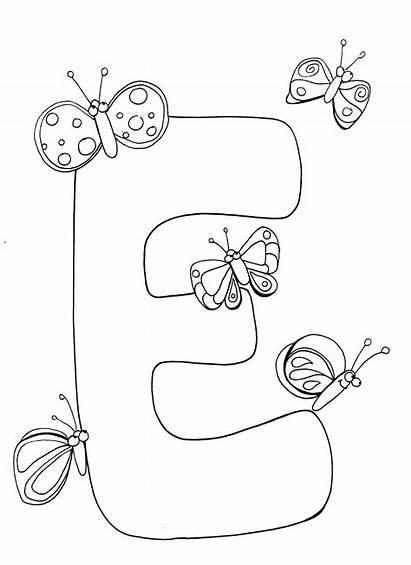 Pages Coloring Letter Alphabet Letters Preschool Printable