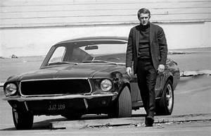 Steve McQueen and his Mustang in Bullitt (1968) : OldSchoolCool