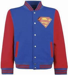 Superman College Jacke Blau Fr Superhelden
