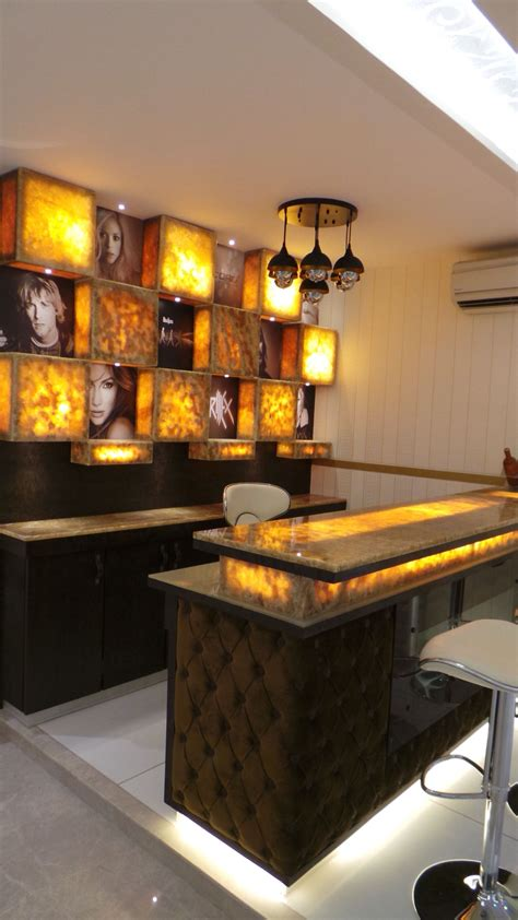 Small Bar Counter Ideas by Onyx Marble Bar Counter Designed By Sonivipuldesigns